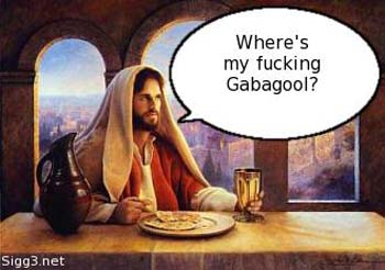 Jesus having Lunch